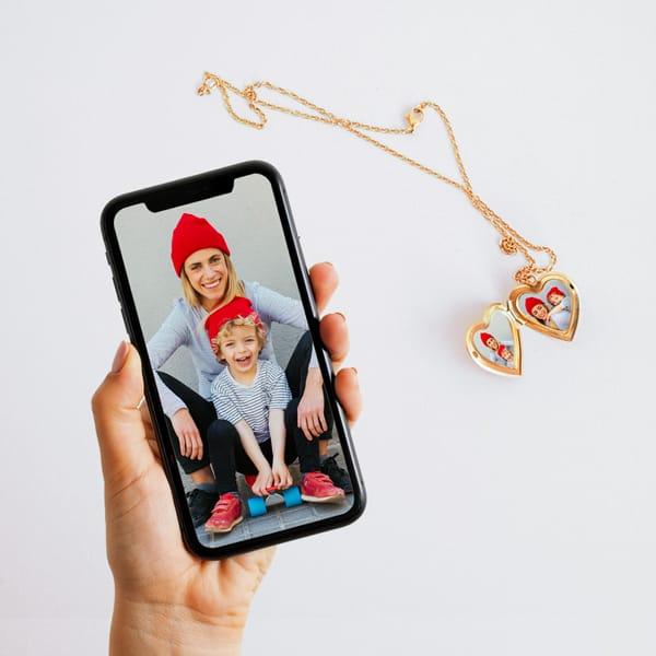 Locket Photos From A Phone - Custom Size Photo Prints