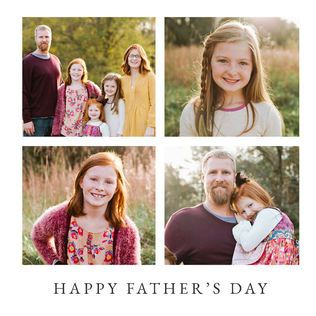 Create a Real Photo Happy Father's Day Collage Card