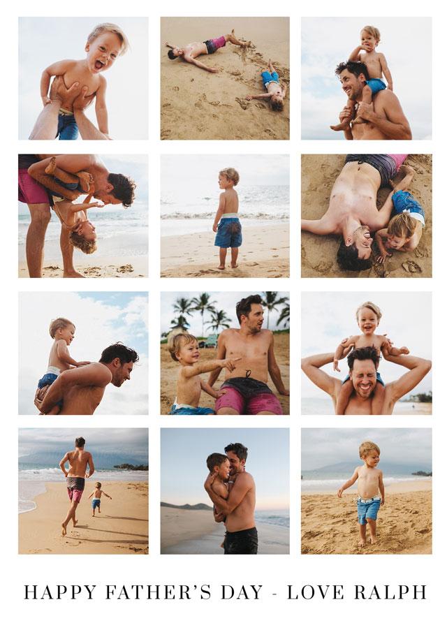 Create a Real Photo Collage 12 Photos Card