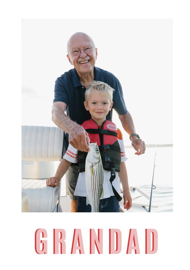 Create a Real Photo Grandad Card