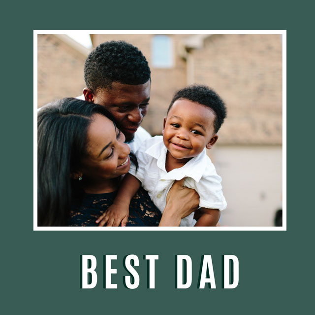 Create a Real Photo Best Dad Card