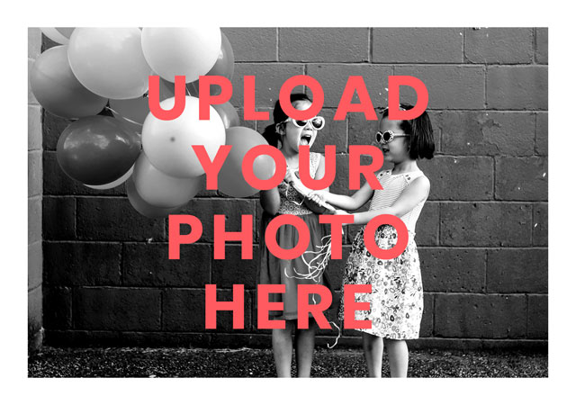Create a Real Photo Landscape Photo Card White Border Card