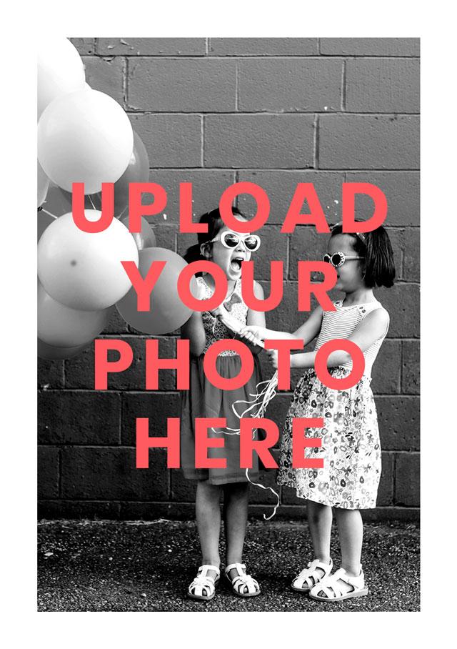 Create a Real Photo Portrait Photo Card White Border Card