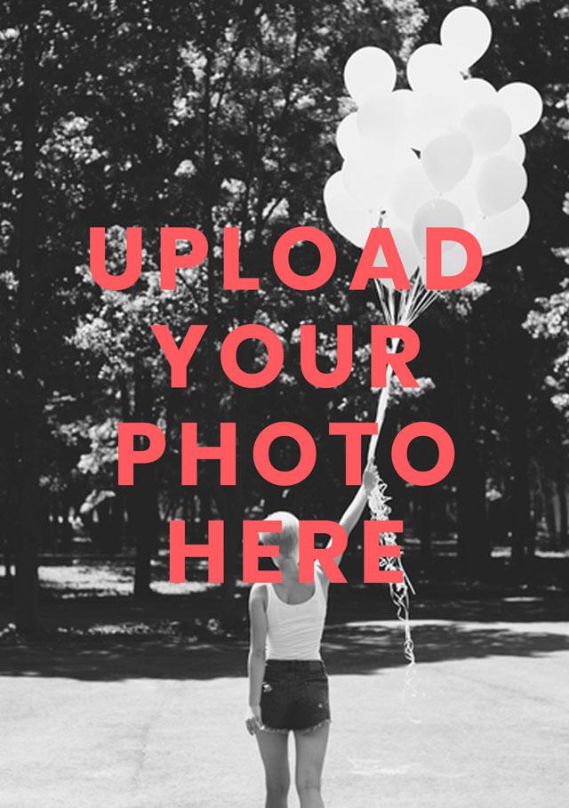Create a Real Photo Portrait Photo Card Card