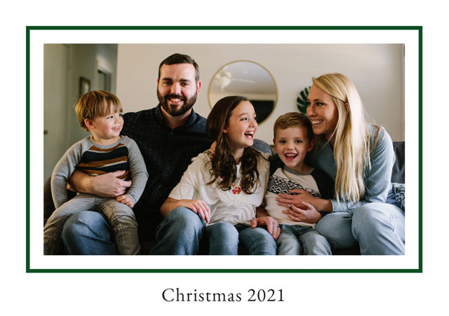 Prince Of Wales Personalised Christmas Card