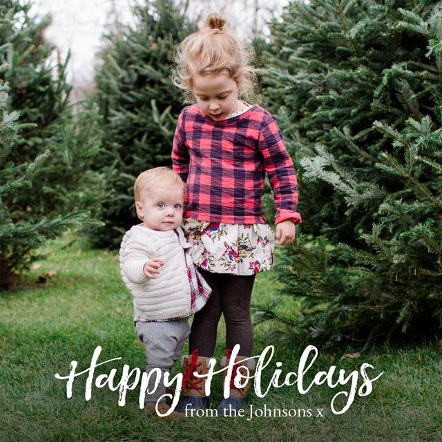Festive Font Personalized Holiday Card