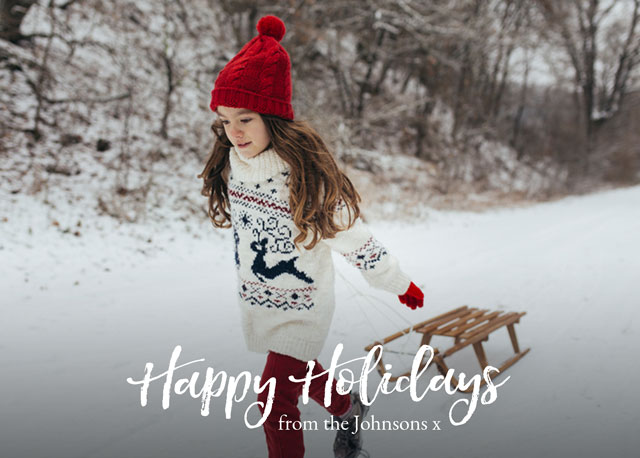 Signature Personalized Holiday Card