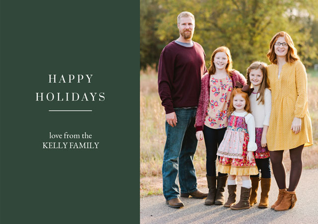 Family Personalized Holiday Card