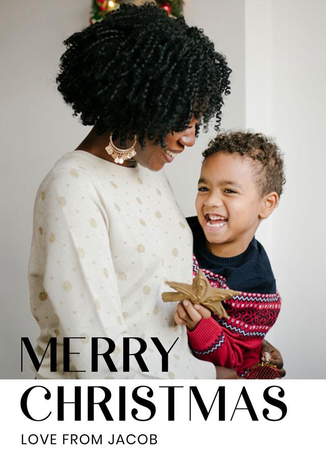 Modern Personalised Christmas Card