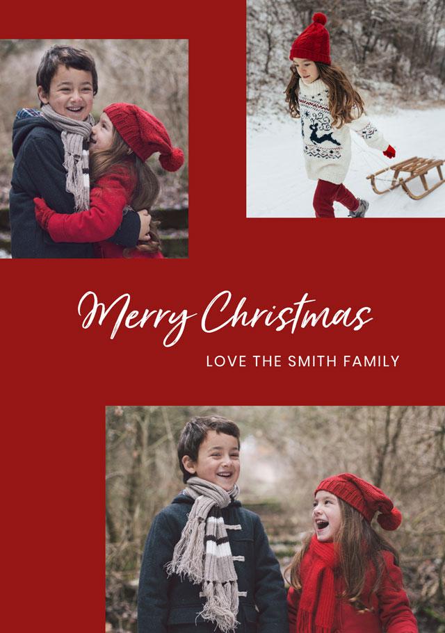 Multi Frames Personalised Christmas Card