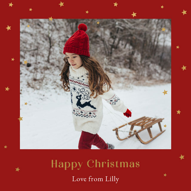 Traditional Frame Personalised Christmas Card