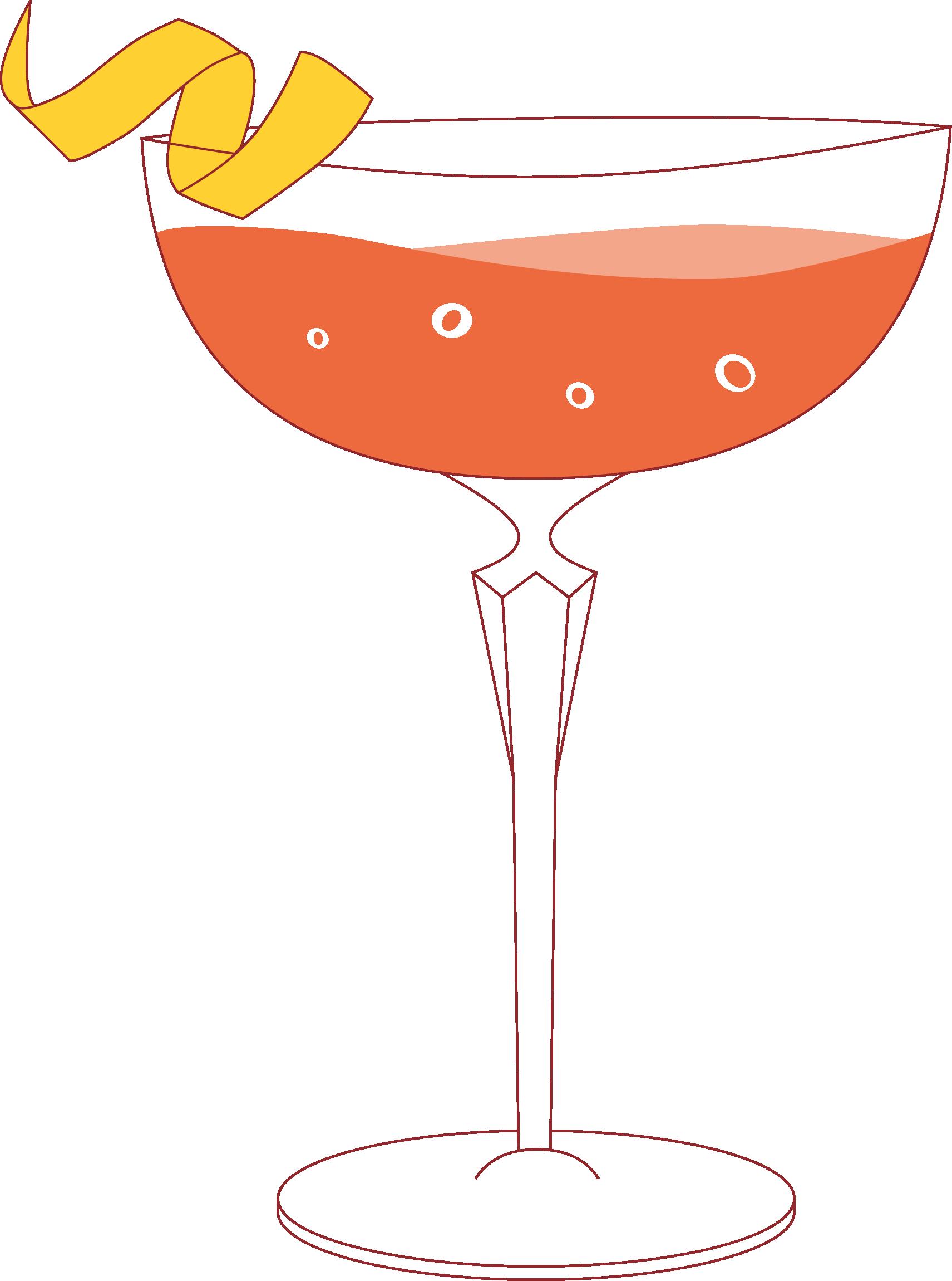 Illustration carte des cocktails