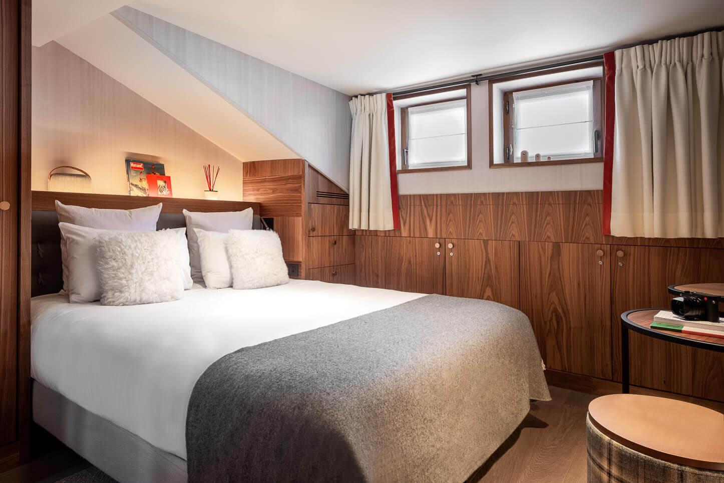Chambre cosy - vue sur le lit