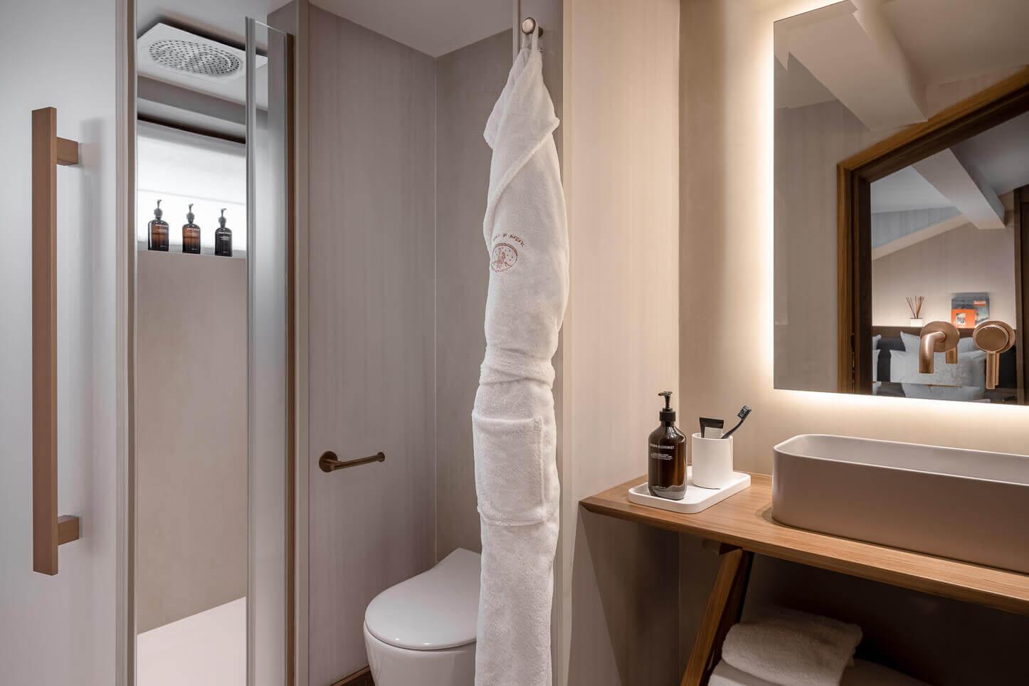 Chambre cosy - salle de bains