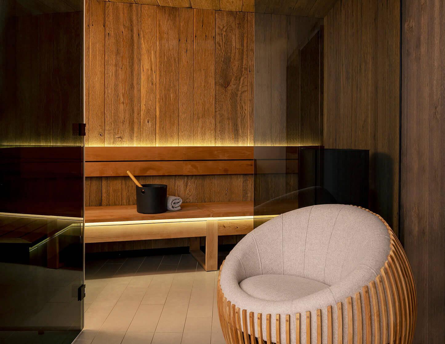 Sauna au spa
