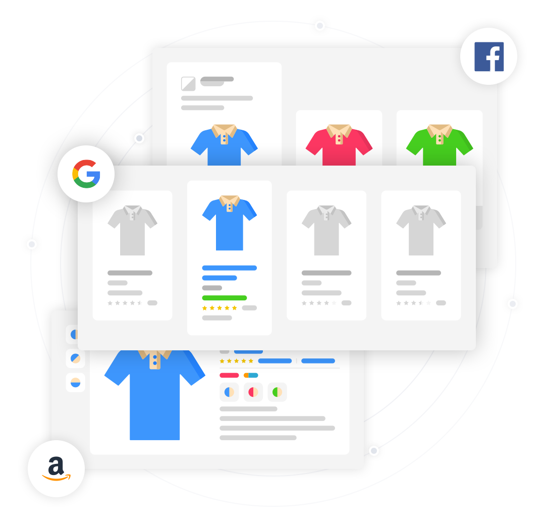 google amazon facebook product feeds