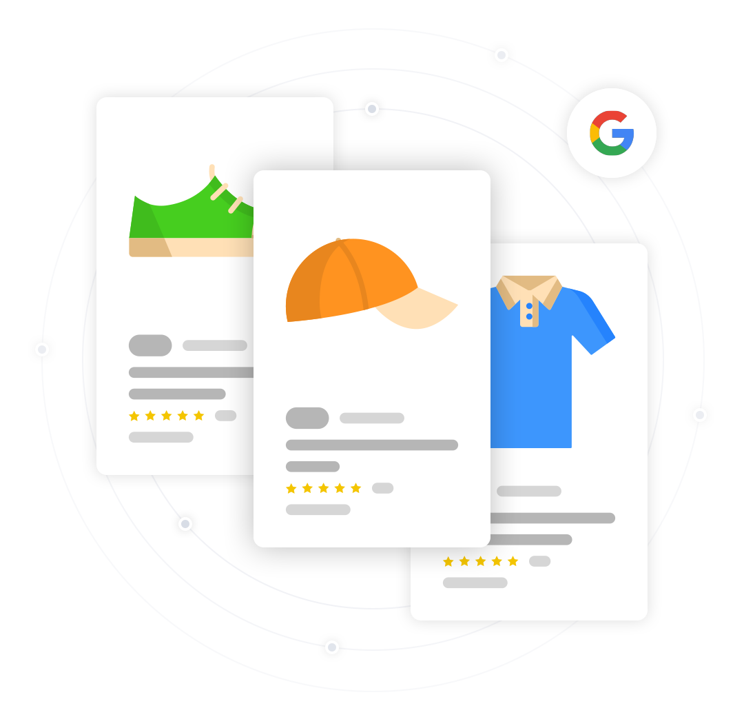 google amazon facebook product feeds