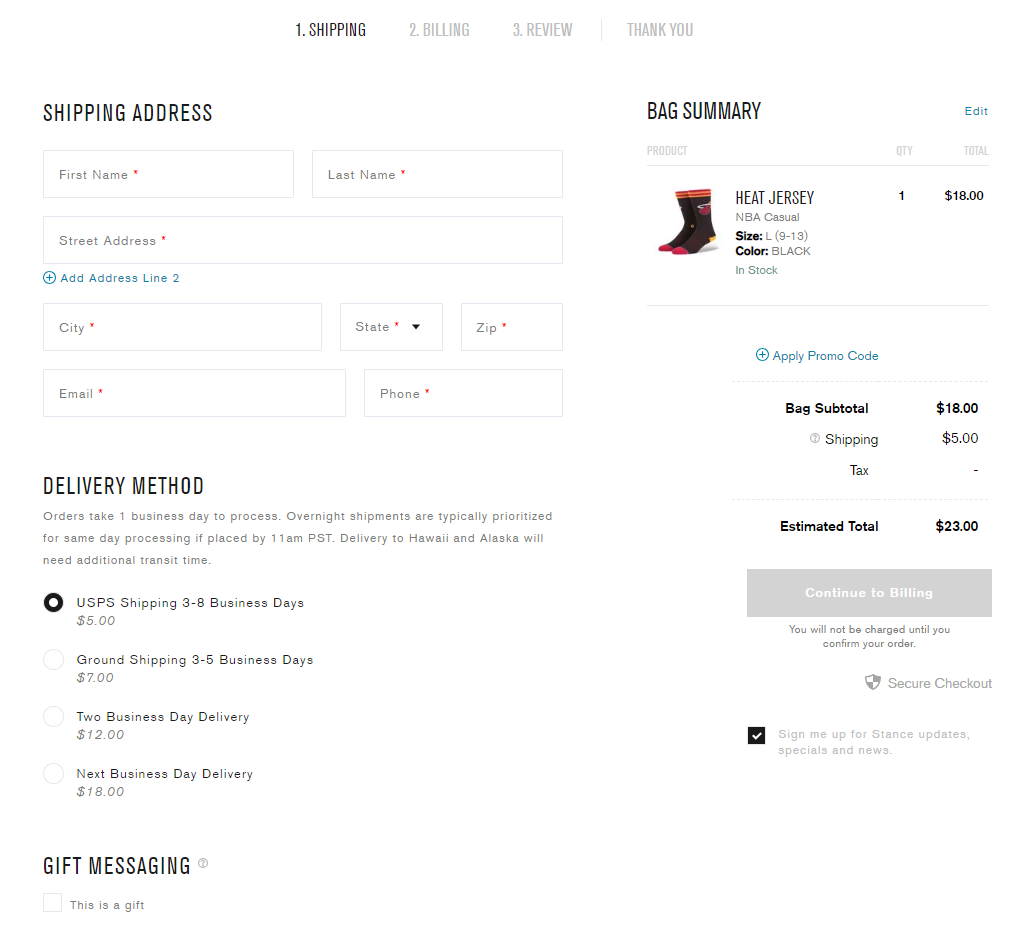 conversion optimized checkout process