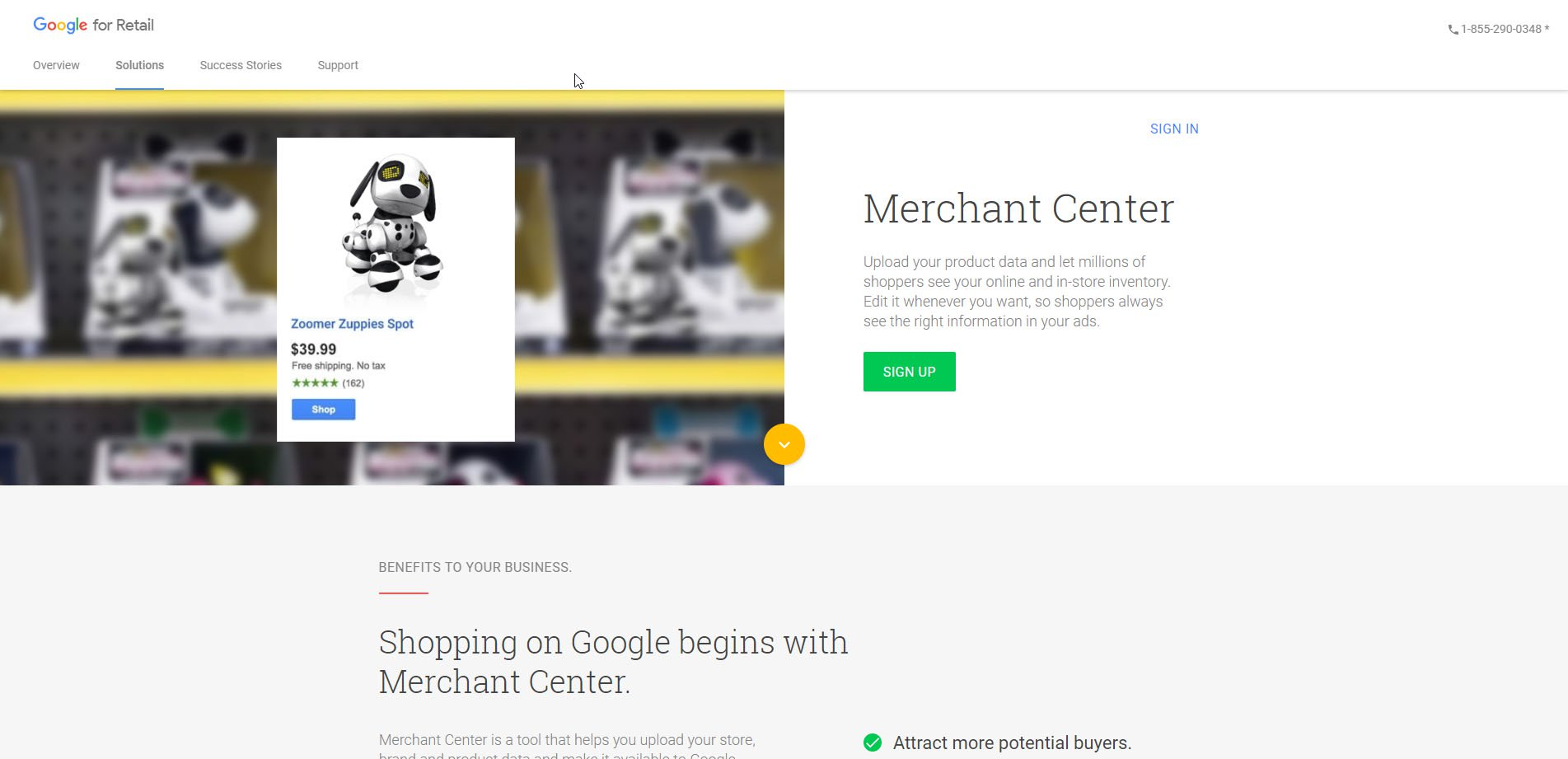 google shopping actions merchant center sign up