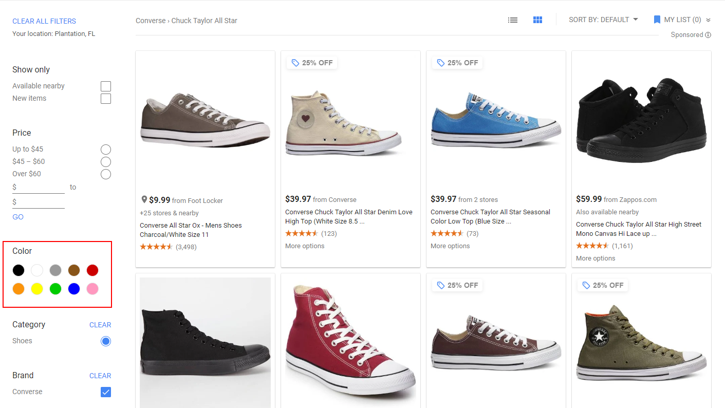 ecommerce product data optimization color