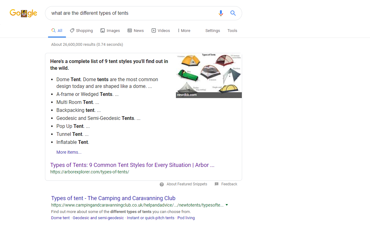 voice search optimization google answer box