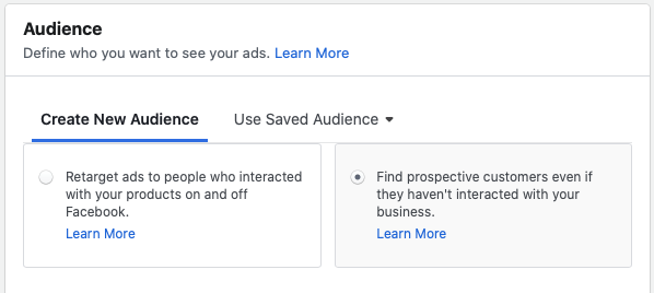 selling products on facebook with broad targeting