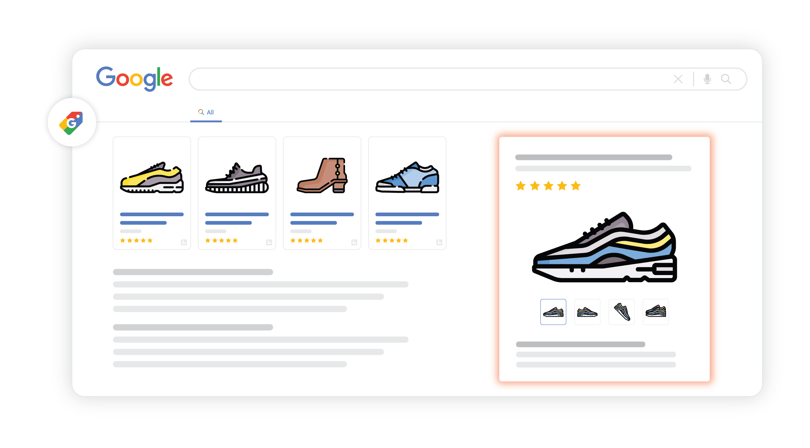 google for retail surfaces across google listings on google