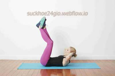 Vertical Leg Crunch- Bài tập nâng chân dọc