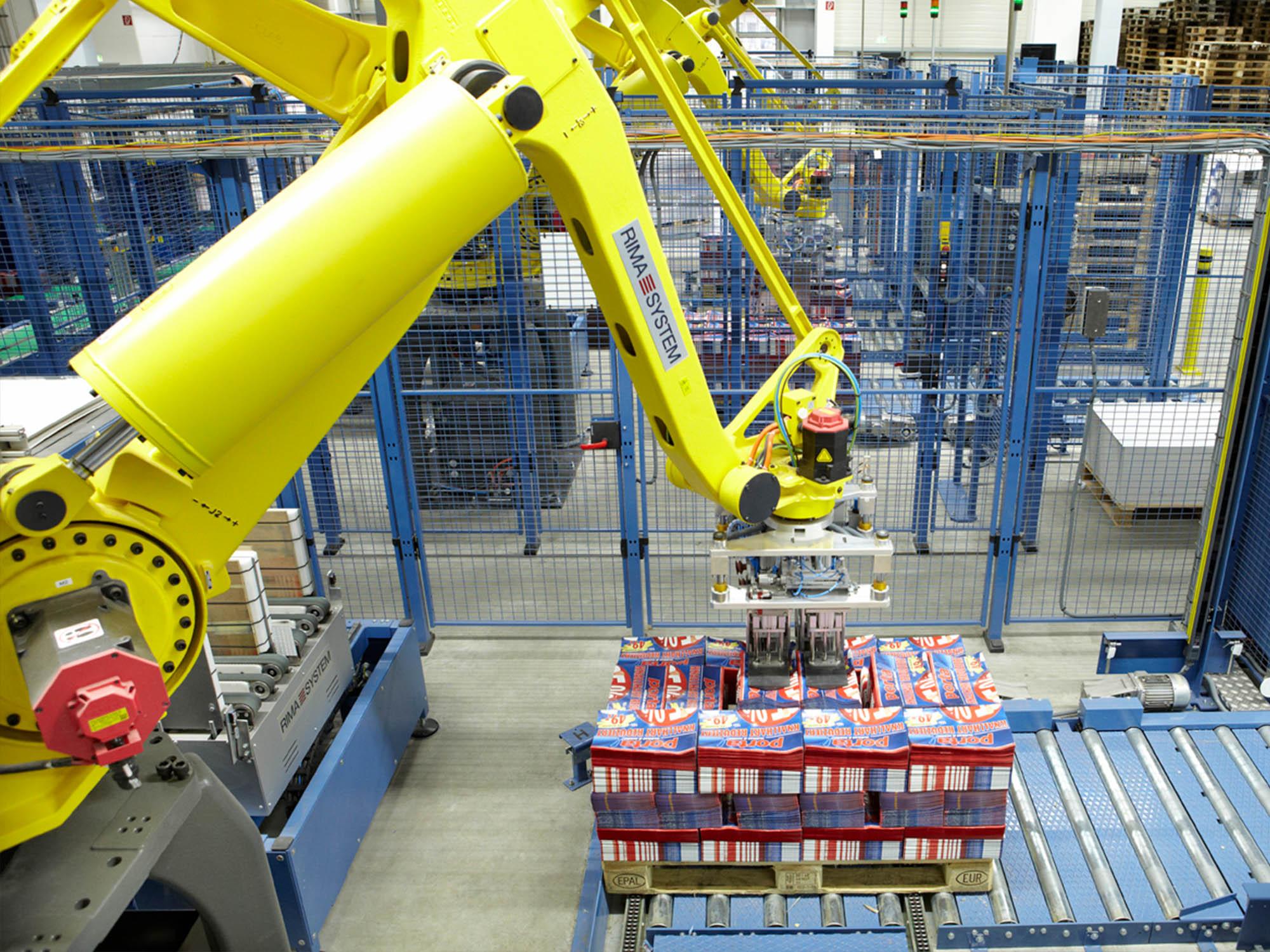 Roboterpalettierer Pakete