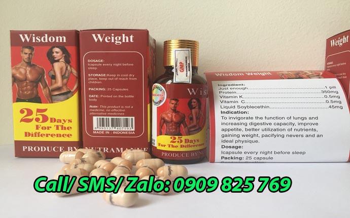 Mua thuốc tăng cân Wisdom Weight tại Bình Phước