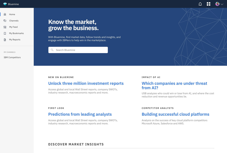 Bluemine Homepage