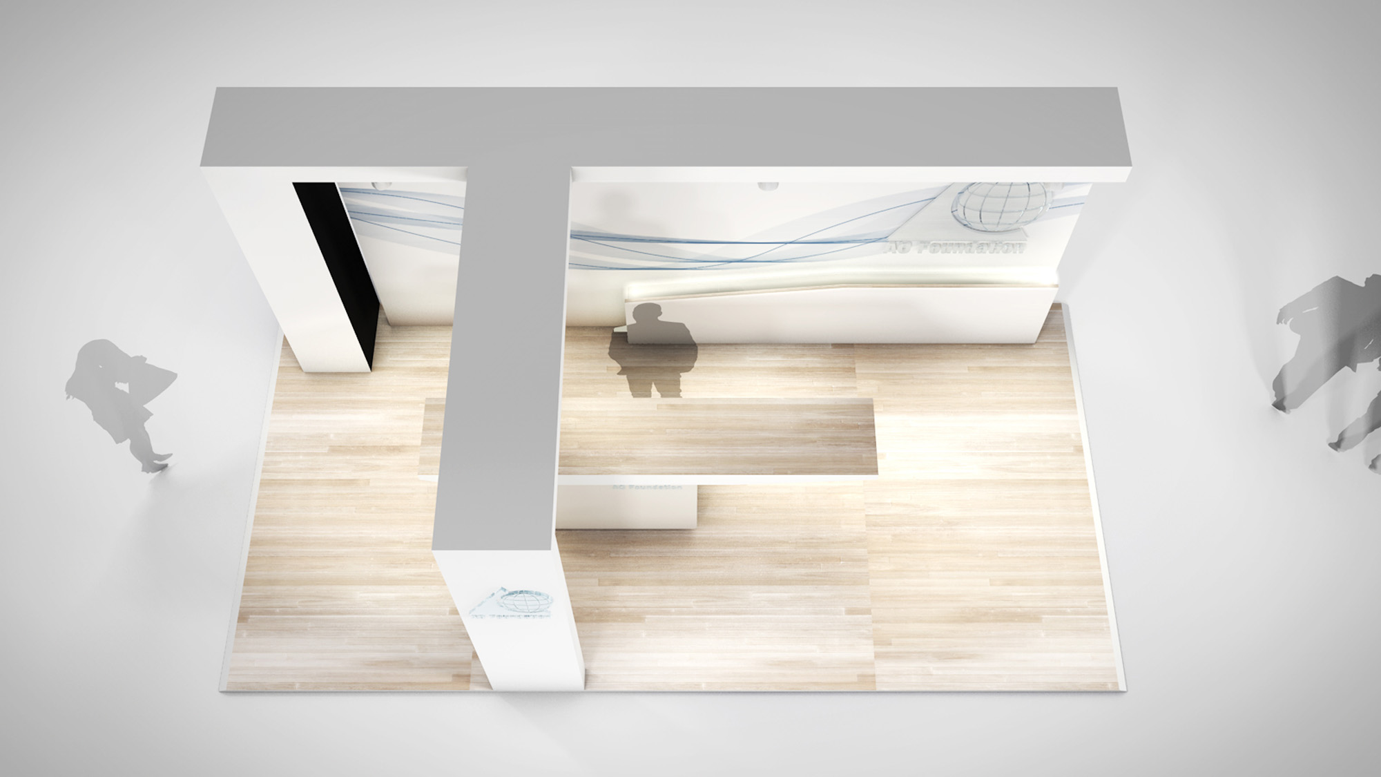 rico chiari Messestanddesign 3D-Rendering