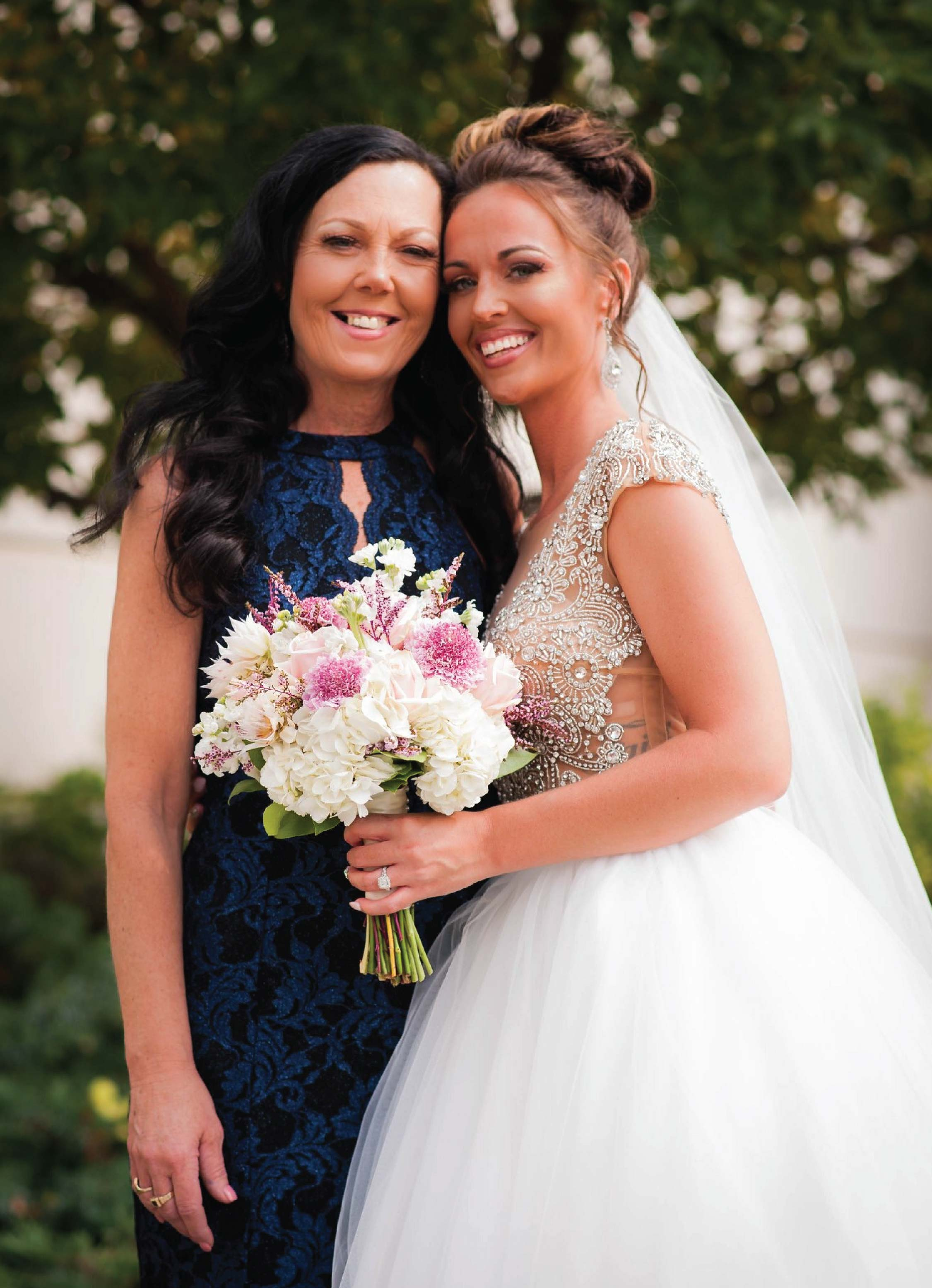 Bride with makeup by Brittney Ross MUA