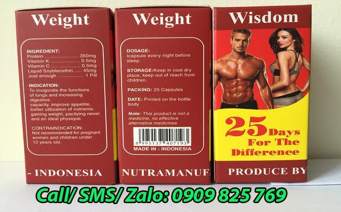 Thuốc tăng cân Wisdom Weight thật có mã vạch đầy đủ