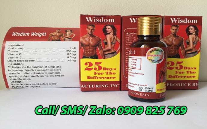 Vitamin Wisdom Weight sử dụng rất hiệu quả và an toàn