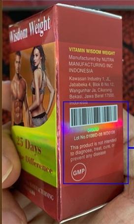 Thuốc tăng cân Wisdom Weight hàng giả không có Mã Vạch