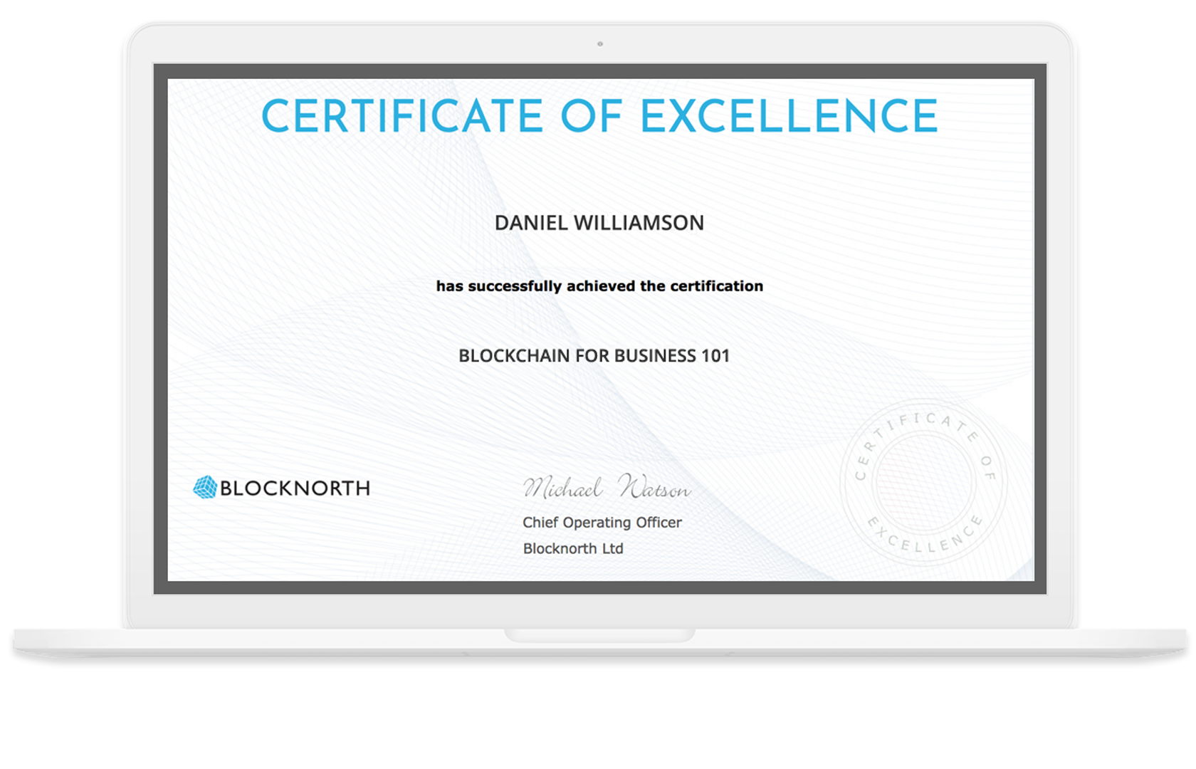 Blocknorth Blockchain Course Certificate