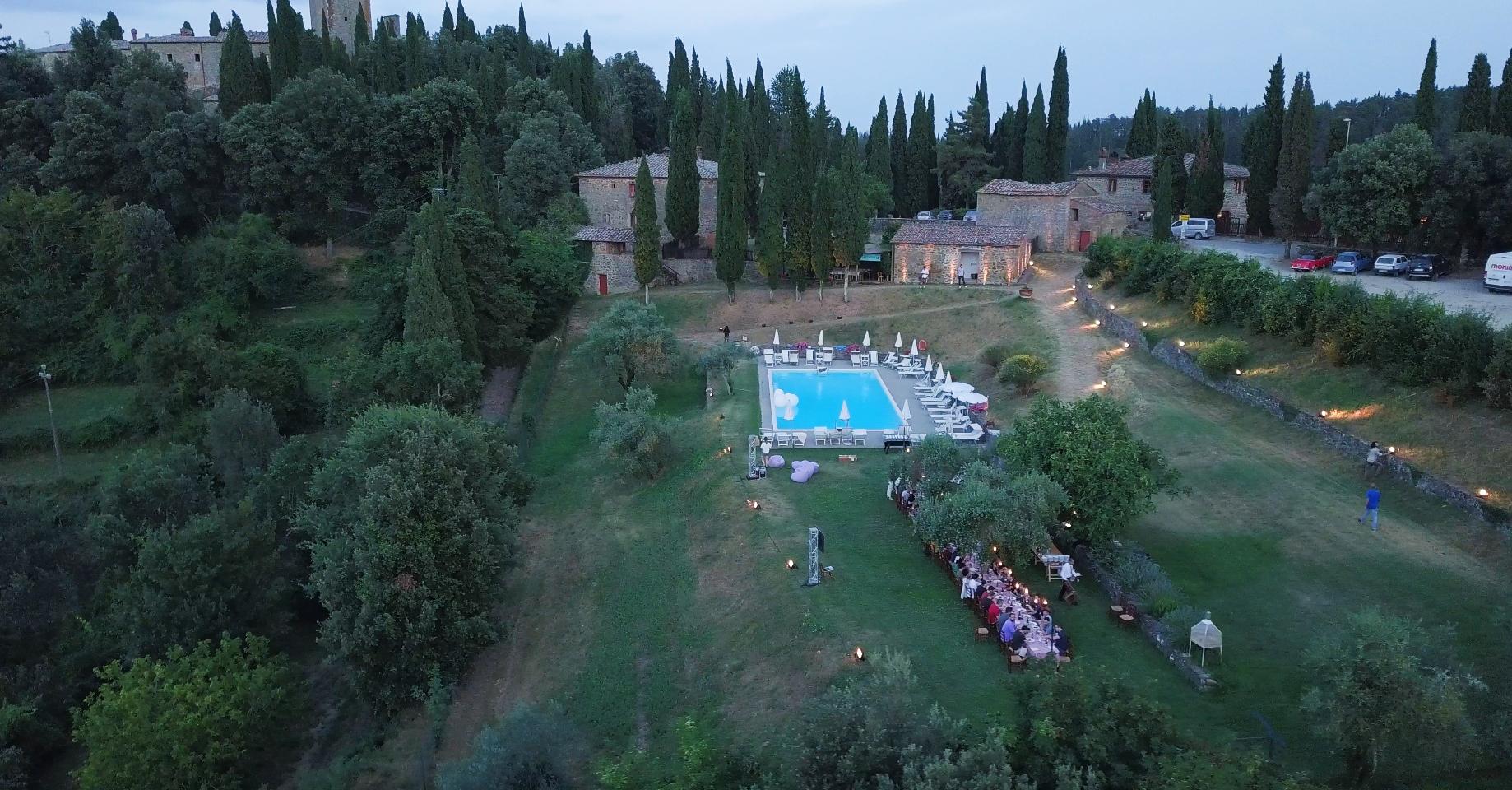 Remote company retreat in Tuscany
