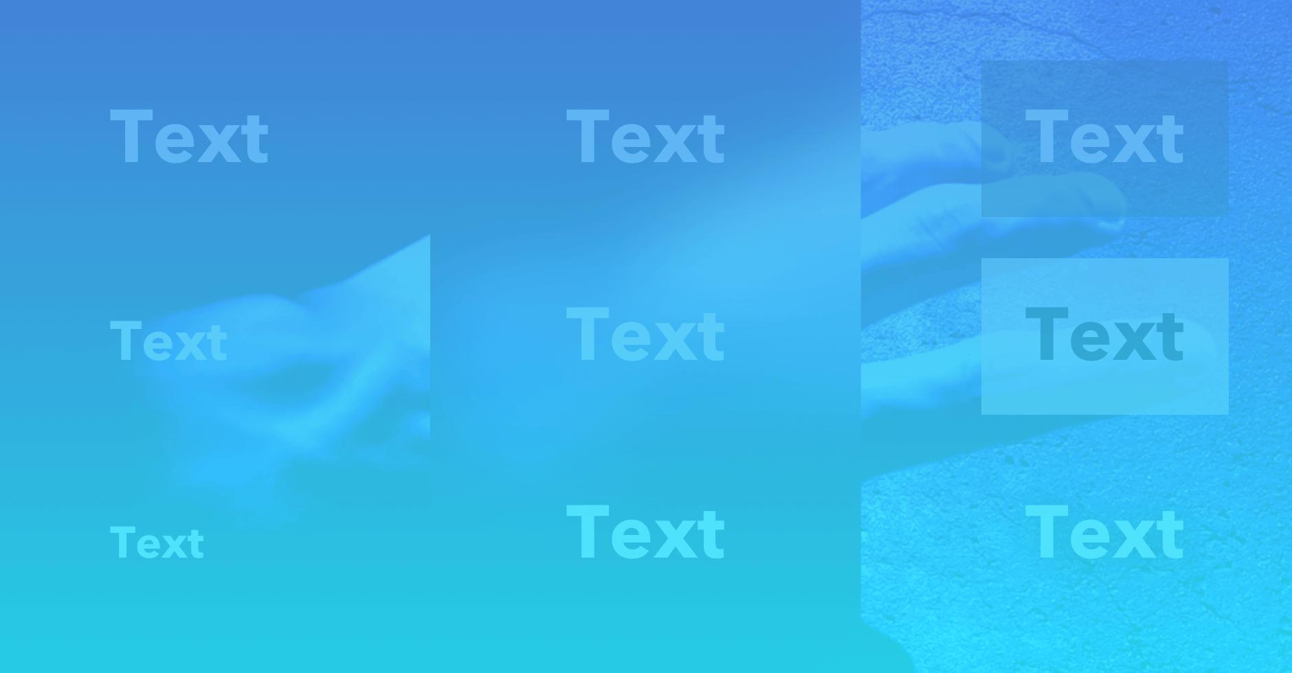 Jak správně umístit texty přes obrázky