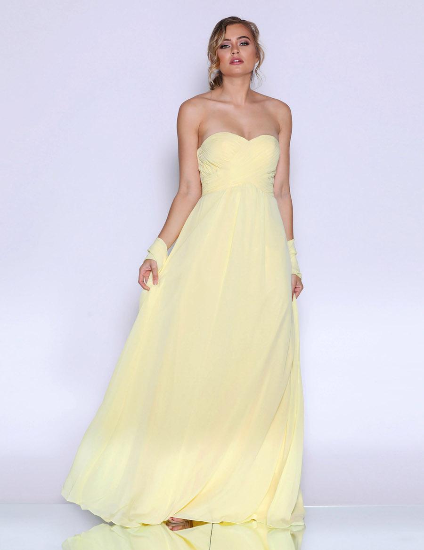 Strapless Chiffon Empire Line Dress