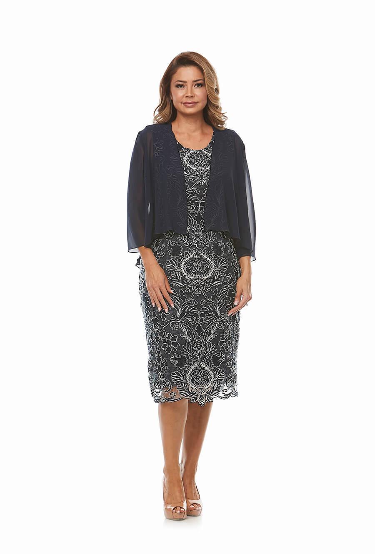 Intricate Lace Dress with chiffon jacket