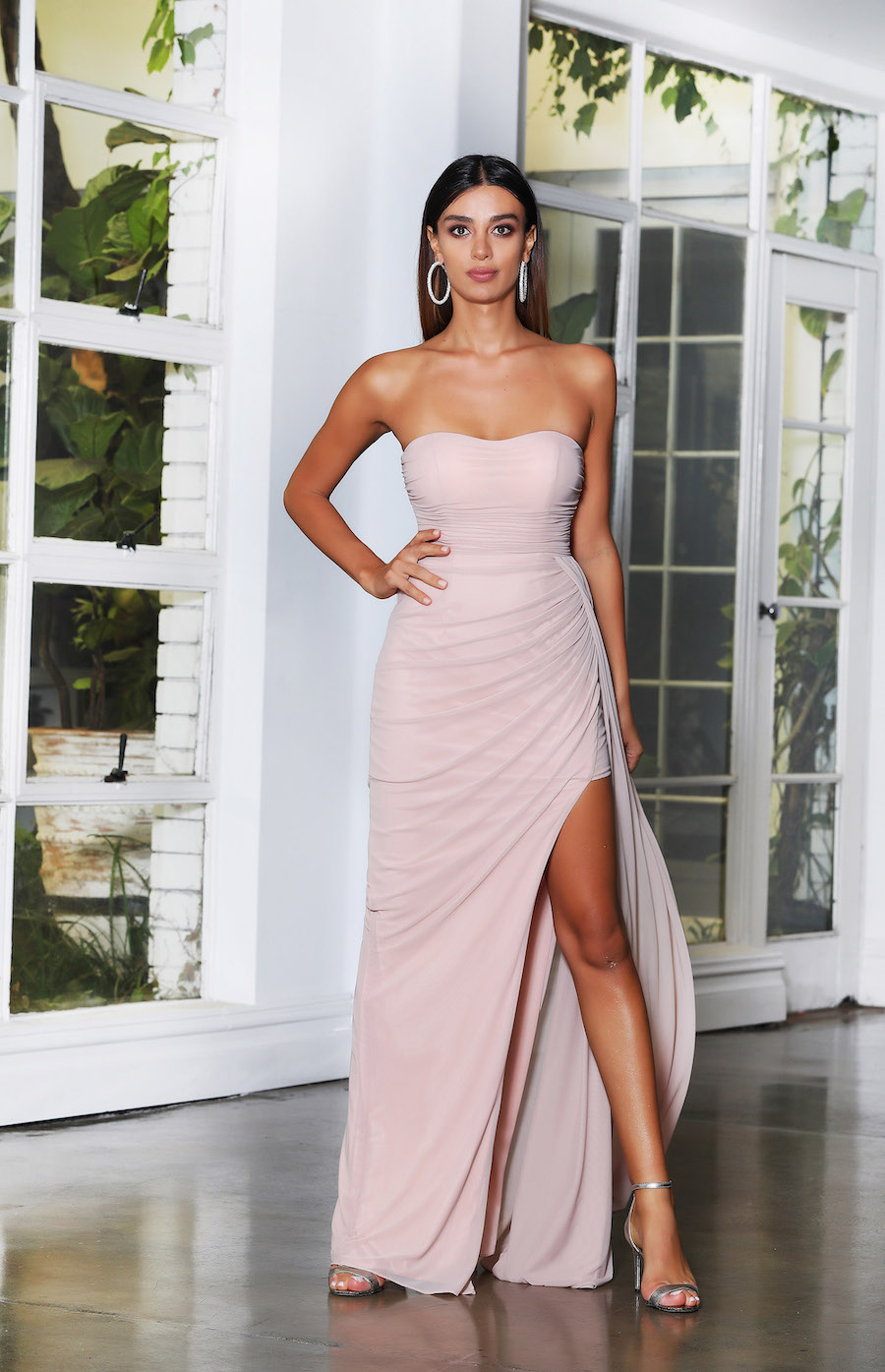 Strapless Rouched Gown