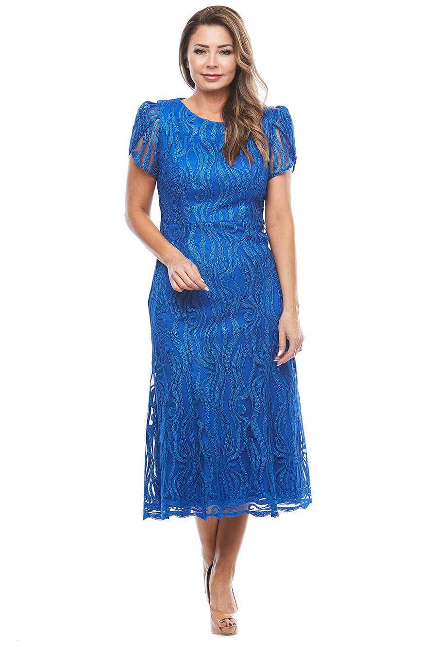 Stunning royal blue lace dress