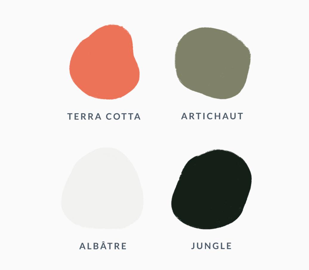 Palette de couleur de la marque