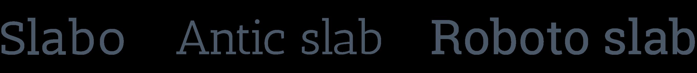 Polices d'écritures slab serif