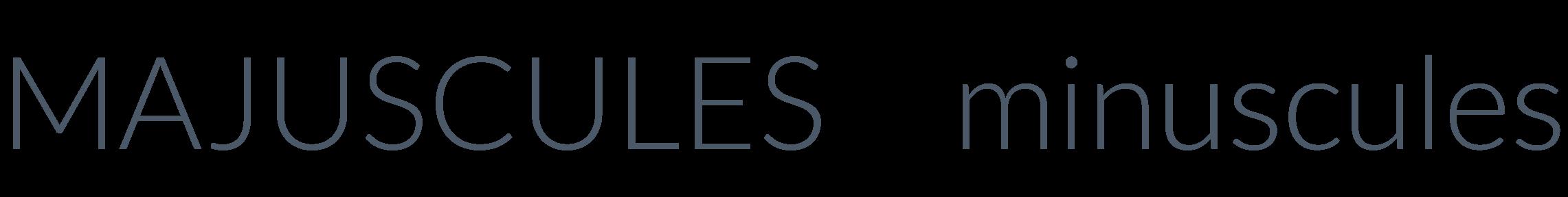 Exemple de polices d'écritures en majuscules et minuscules