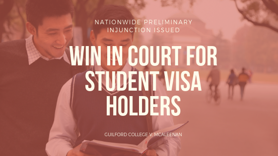 Nonimmigrant student visas