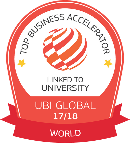 UBI Global Top Business Accelerator Linked to University Badge