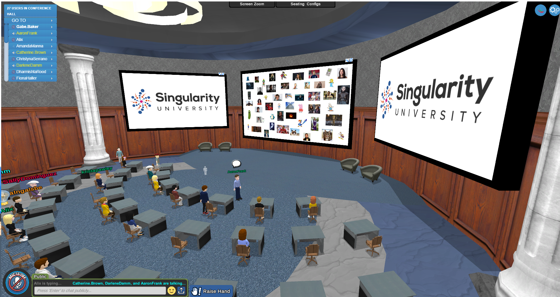 Singularity University using the Conference Hall for an event.