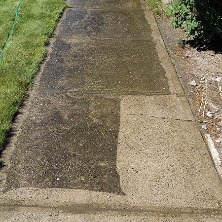 Power washed paving